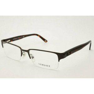 New Versace 1184 1269 Brushed Brown Eyeglasses
